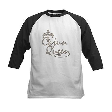 Cajun Queen Fleur De Lis Kids Baseball Jersey