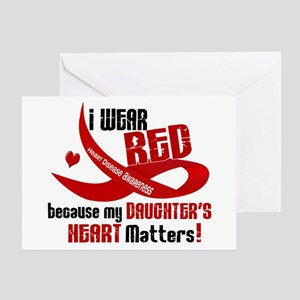 Red For My Daughter Heart Disease Greeting Card
