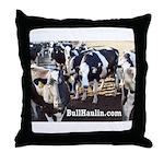 Bull Haulers Association Throw Pillow