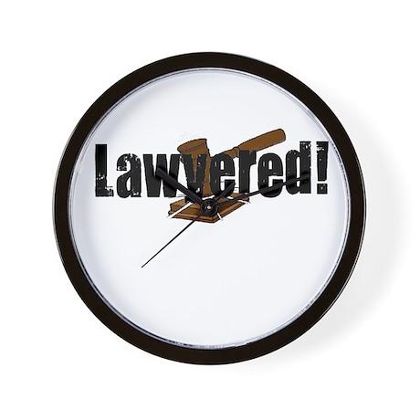 Lawyered! Wall Clock