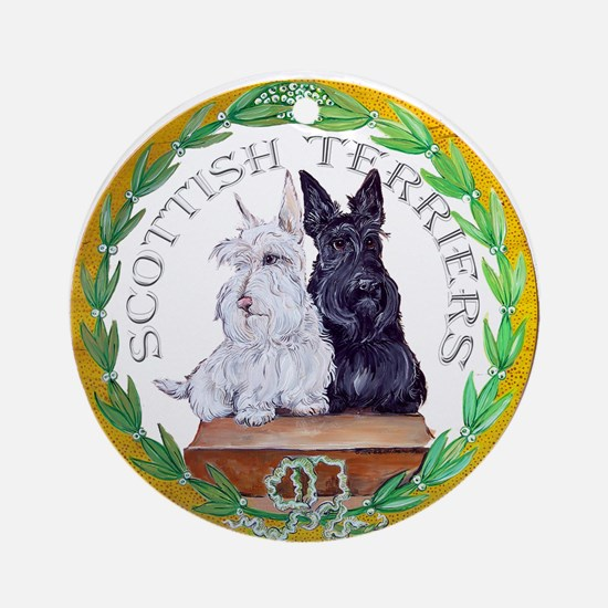 Scottish Terrier Crest Ornament (Round)