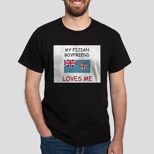 My Fijian Boyfriend Loves Me Dark T-Shirt