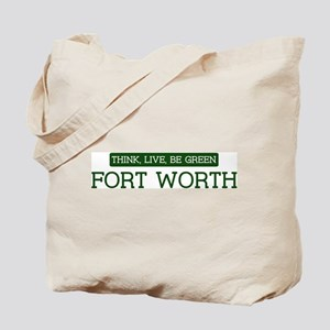 Green FORT WORTH Tote Bag
