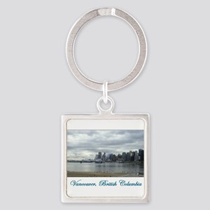 Downtown Vancouver BC Square Keychain