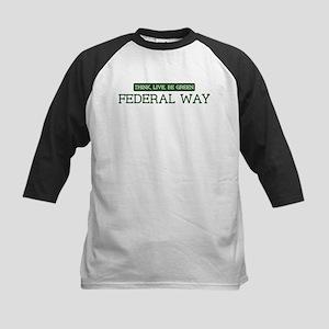 Green FEDERAL WAY Kids Baseball Jersey