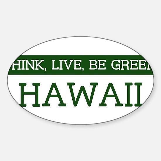Green HAWAII Oval Decal