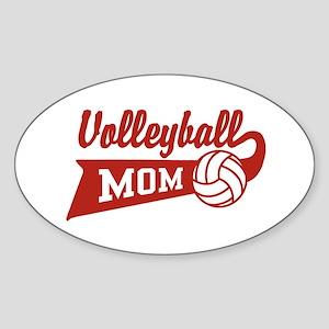 Volleyball Mom Oval Sticker