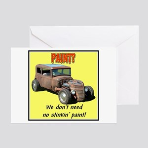 """Don't Need No Paint"" Greeting Card"