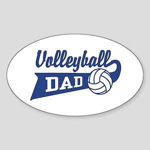 Volleyball Dad Oval Sticker