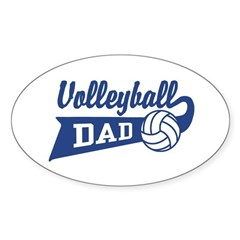 Volleyball Dad Oval Decal