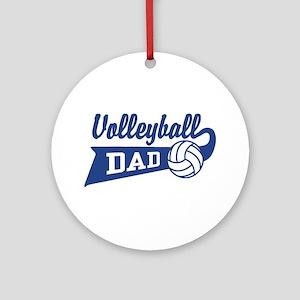Volleyball Dad Ornament (Round)
