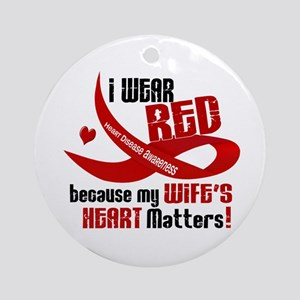 I Wear Red For My Wife Heart Disease Ornament (Rou
