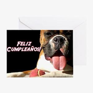 Feliz Cumpleanos Boxer Greeting Card