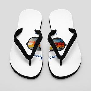 Michigan - Oval Beach Flip Flops