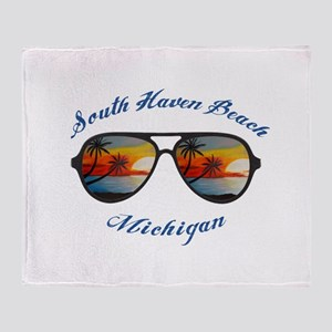 Michigan - South Haven Beach Throw Blanket