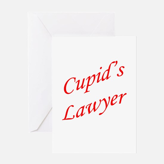 Cupid's Lawyer Greeting Card