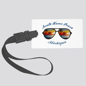 Michigan - South Haven Beach Large Luggage Tag