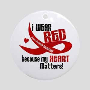 I Wear Red For Me Heart Disease Ornament (Round)