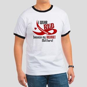 I Wear Red For Me Heart Disease Shirt Ringer T