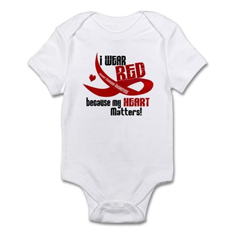 I Wear Red For Me Heart Disease Infant Bodysuit