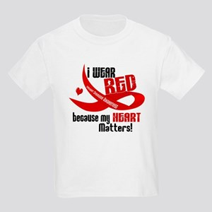I Wear Red For Me Heart Disease Shirt Kids Light T