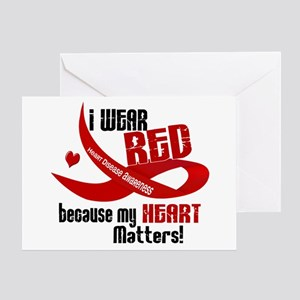 I Wear Red For Me Heart Disease Greeting Card