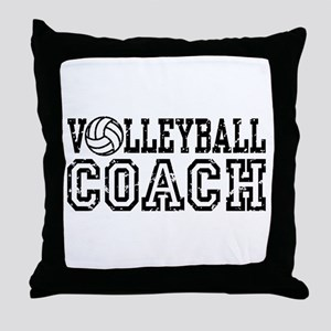 Volleyball Coach Throw Pillow
