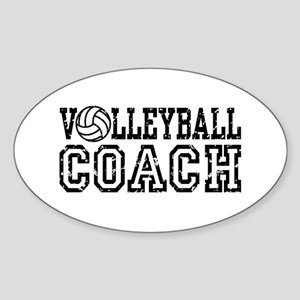 Volleyball Coach Oval Sticker