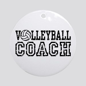 Volleyball Coach Ornament (Round)