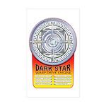 DarkStar WarpDrive Engine Sticker Rectangle 50 pk