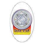 DarkStar WarpDrive Engine Oval Sticker (10 pk)
