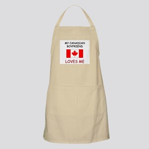 My Canadian Boyfriend Loves Me BBQ Apron