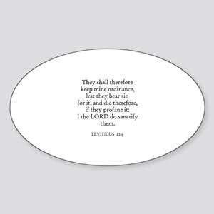 LEVITICUS 22:9 Oval Sticker