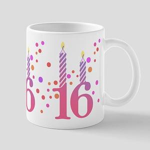 16th Birthday Candles Mug