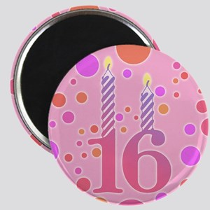 16th Birthday Candles Magnet