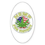Hemp for Victory Sticker (Oval 10 pk)