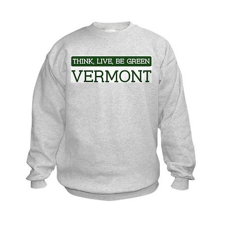 Green VERMONT Kids Sweatshirt