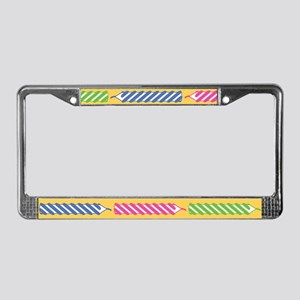 Birthday Candles License Plate Frame