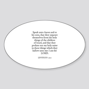 LEVITICUS 22:2 Oval Sticker