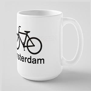 Bike Amsterdam Large Mug
