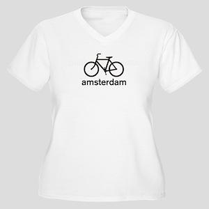 Bike Amsterdam Women's Plus Size V-Neck T-Shirt