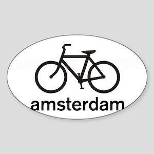 Bike Amsterdam Oval Sticker