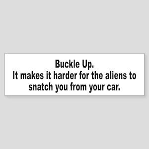 Aliens Driving Humor Bumper Sticker