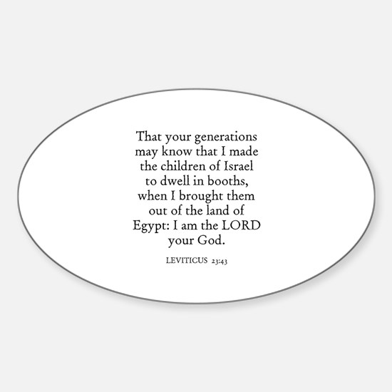 LEVITICUS 23:43 Oval Decal