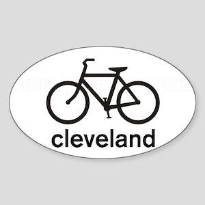 Bike Cleveland Oval Sticker