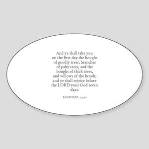 LEVITICUS 23:40 Oval Sticker