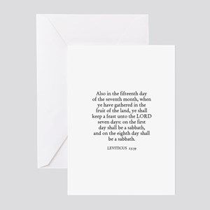 LEVITICUS  23:39 Greeting Cards (Pk of 10)