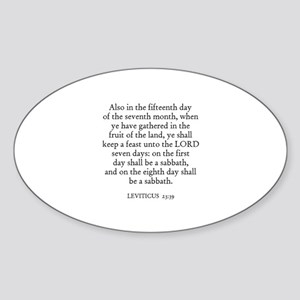 LEVITICUS 23:39 Oval Sticker
