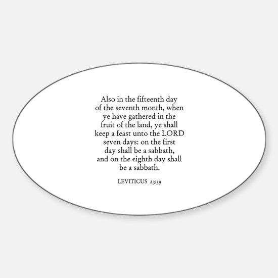 LEVITICUS 23:39 Oval Decal