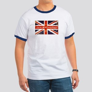 Union Jack British Friends Ringer T
